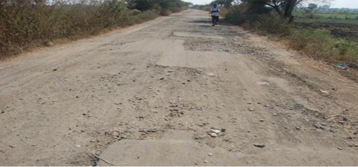 Bad roads giving hardships