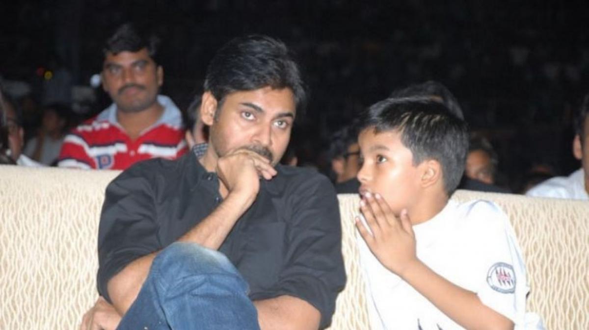 Pawan Kalyan attends Akiras school event
