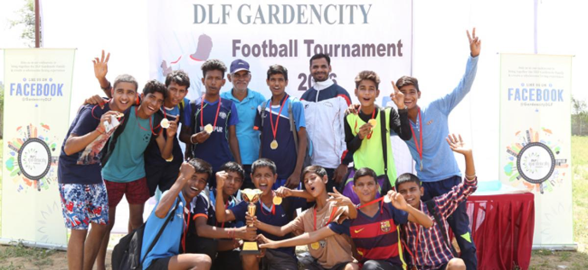 Football Tournament held at DLF Gardencity