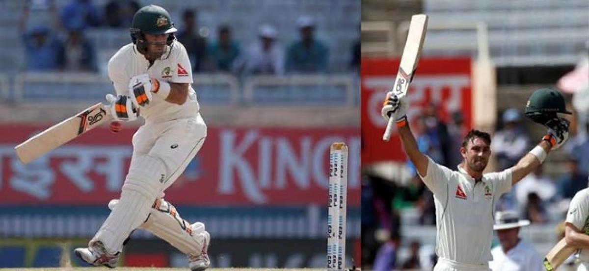 Maxwell hits maiden test ton as Australia pass 400