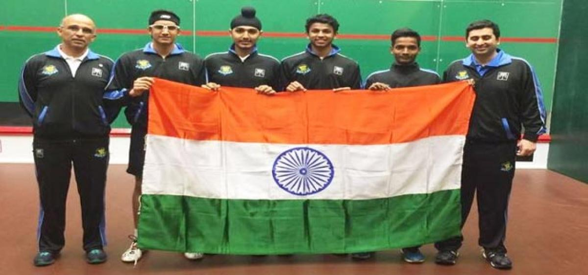 Indian boys clinch Asian Jr squash gold