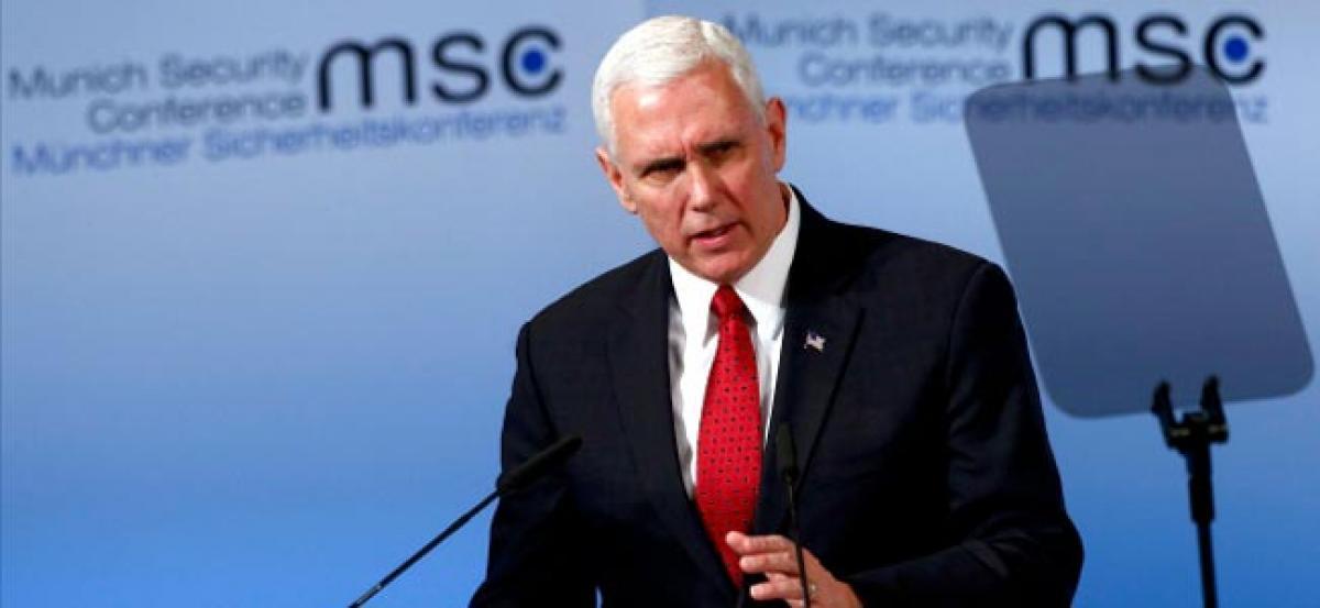 US VP Mike Pence warns North Korea of US resolve shown in Syria, Afghan strikes