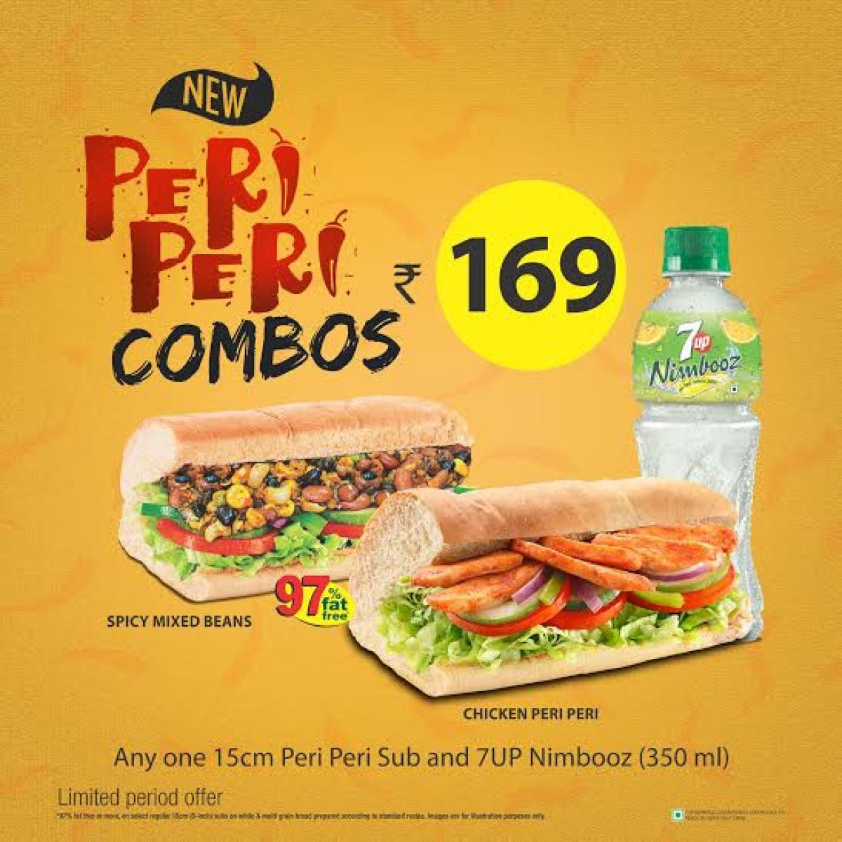 Double your monsoon cheer with Subway®'s Peri Peri Subs