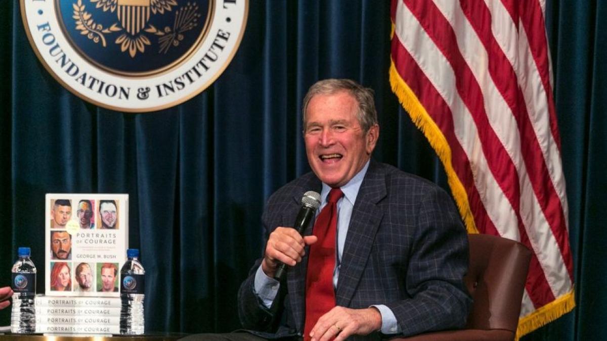 Former US President George W Bushs Portrait Collection Tops Bestseller Lists