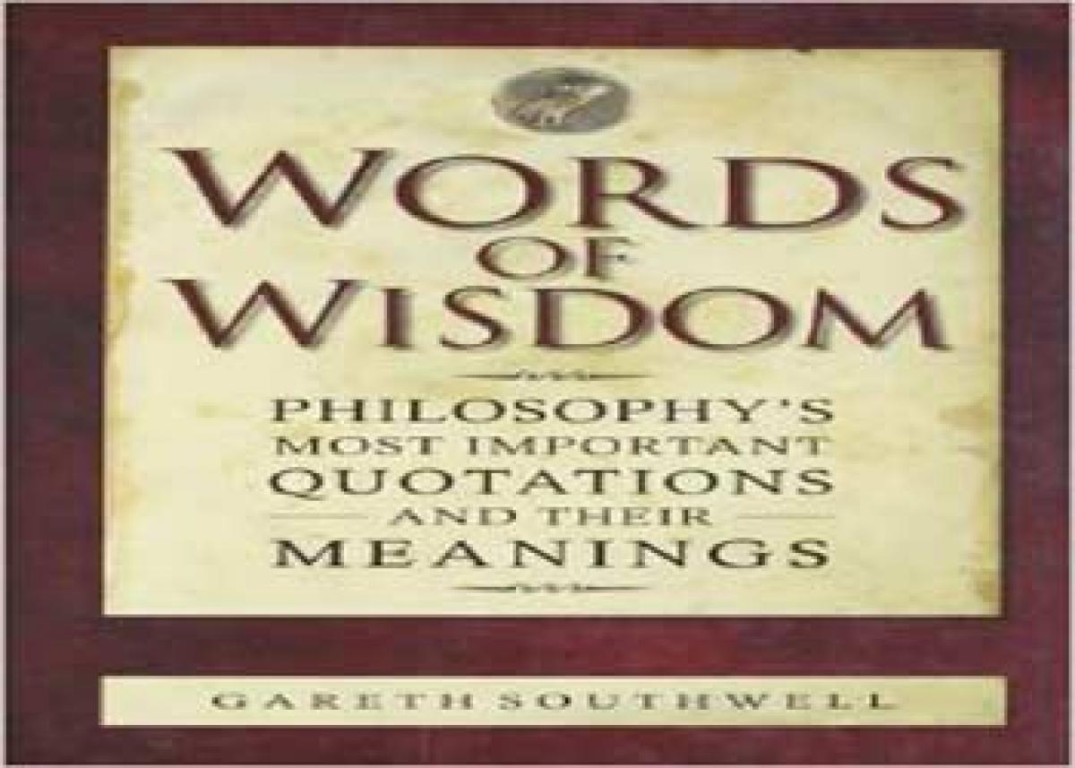 Wisdom of the world for commoner