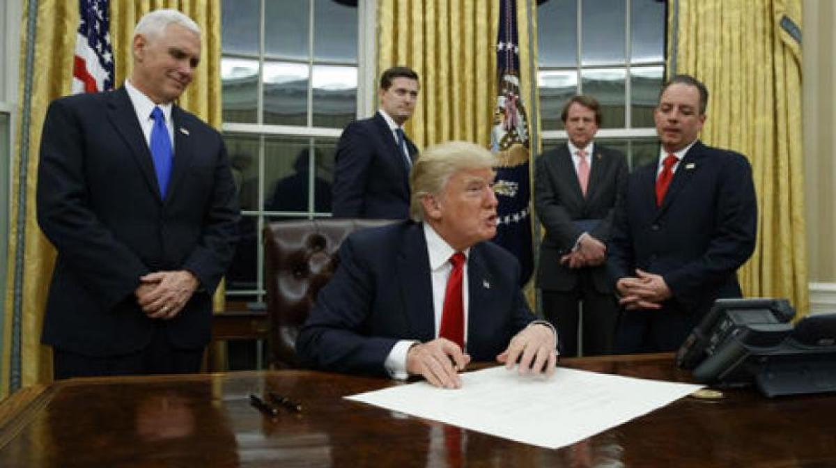 Live: Donald Trump takes charge of the White House as 45th US President