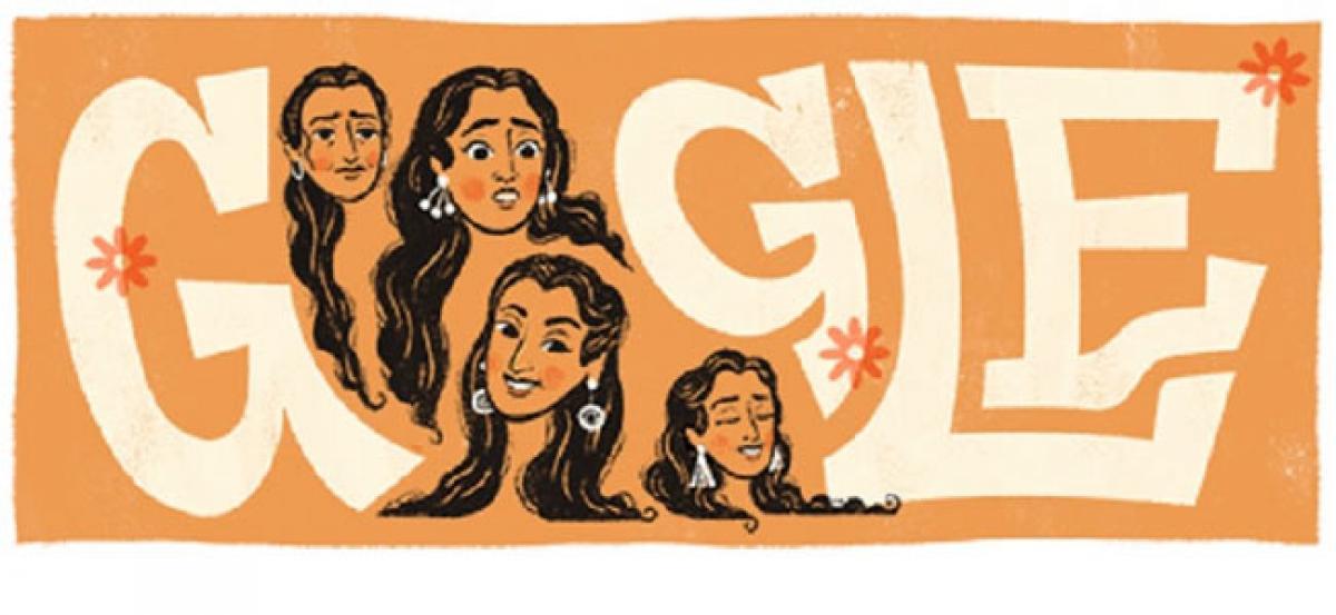 Google dedicates doodle to Nutan