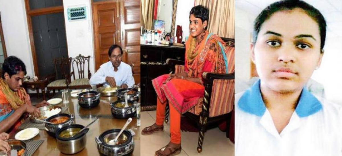 With the help of KCR, Pratyusha fulfilling her dream