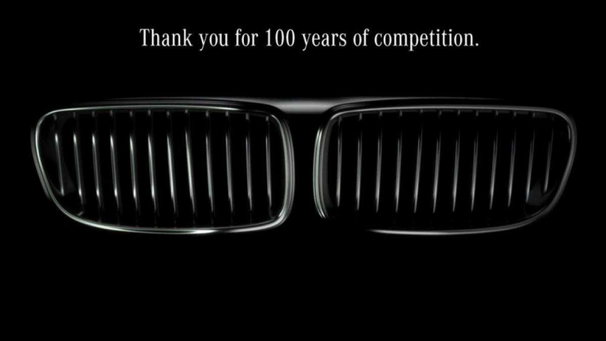 BMWs No.1 rival Mercedes-Benz greets carmaker on 100th anniversary