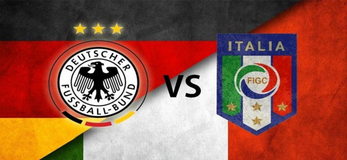 Italian footballers to wear black armbands against Germany.
