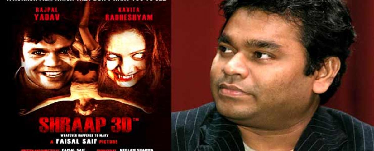 Makers of Shraap 3D to approach AR Rahman for it