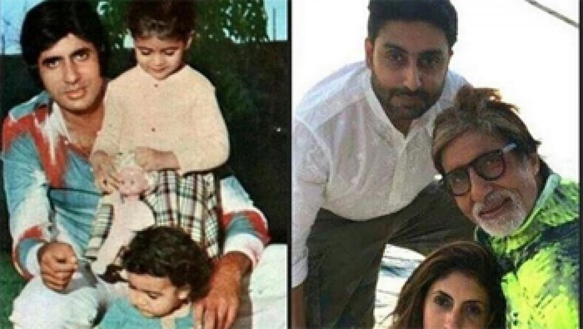 Abhishek shares Bachchan clan`s then and now pic