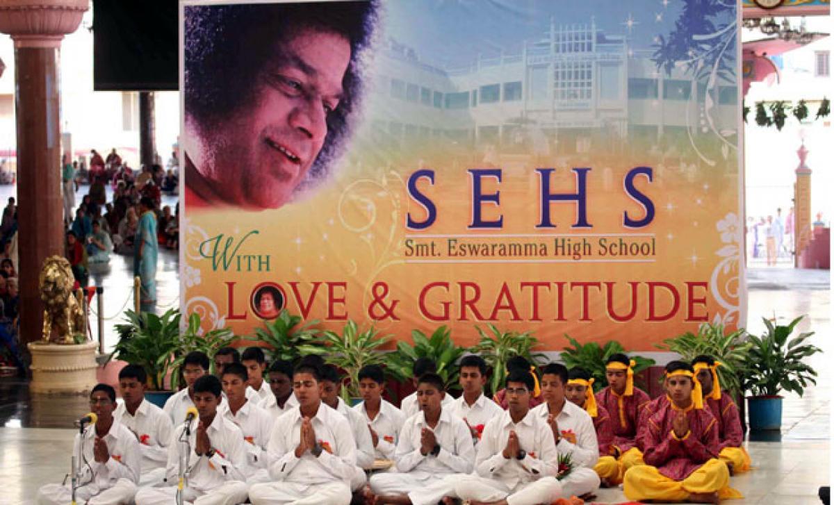 Gratitude Programme by Smt. Eswaramma School Children