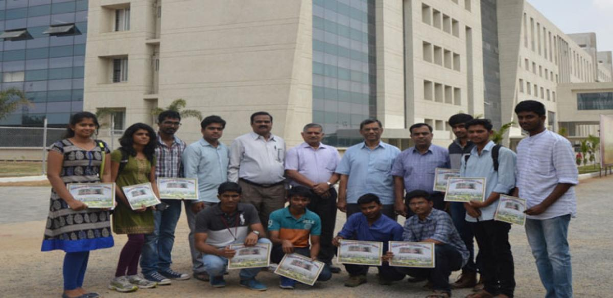Medak Collector honours GITAM Student Chapter