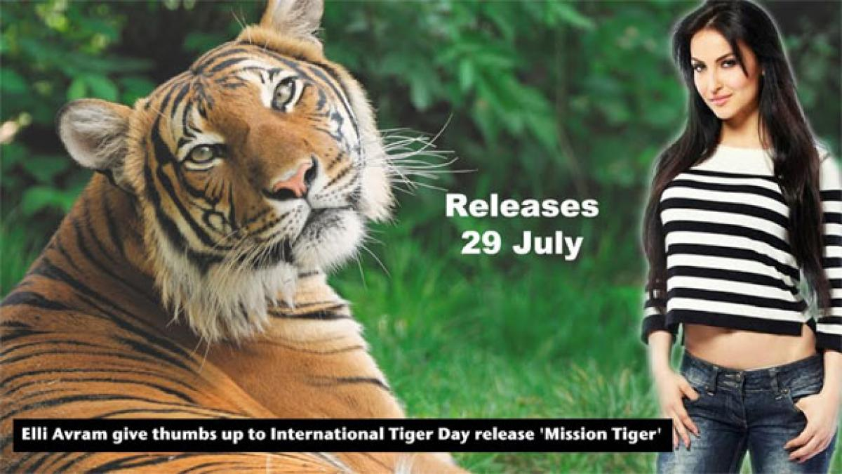 Elli Avram give thumbs up to International Tiger Day release Mission Tiger