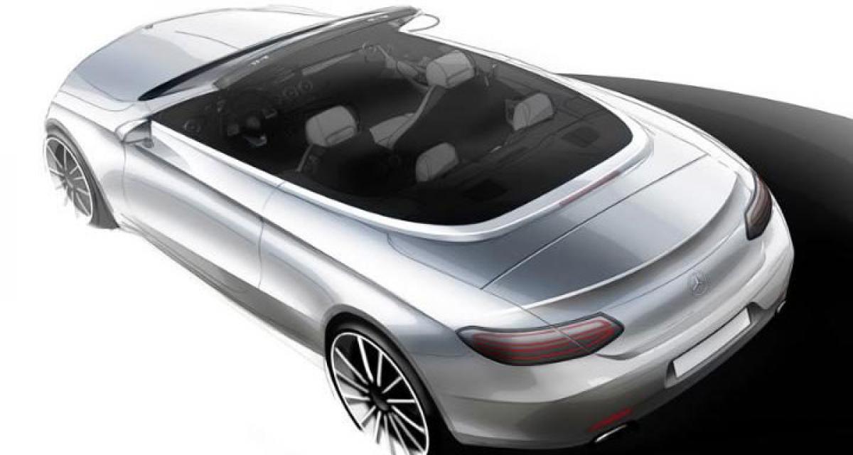 New Mercedes C-class Cabriolet design sketches revealed
