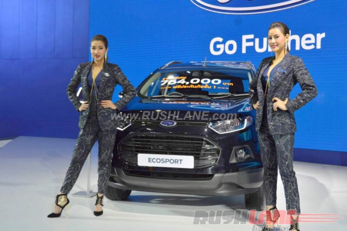 Check out Ford EcoSport Black Edition 4×4 features price in India at Bangkok Motor Show
