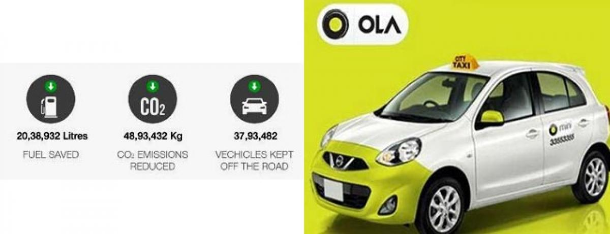 Ola share helps cuts emissions, helps India go green