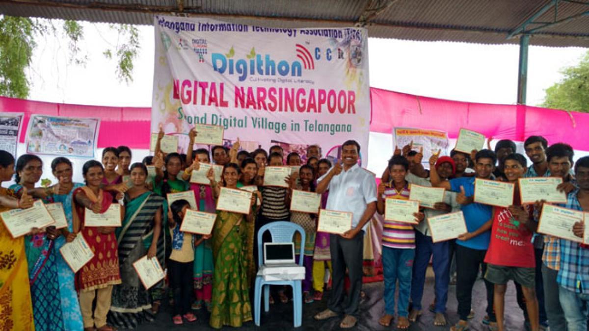 Narsingapur in Telangana has 100% Digital Literacy