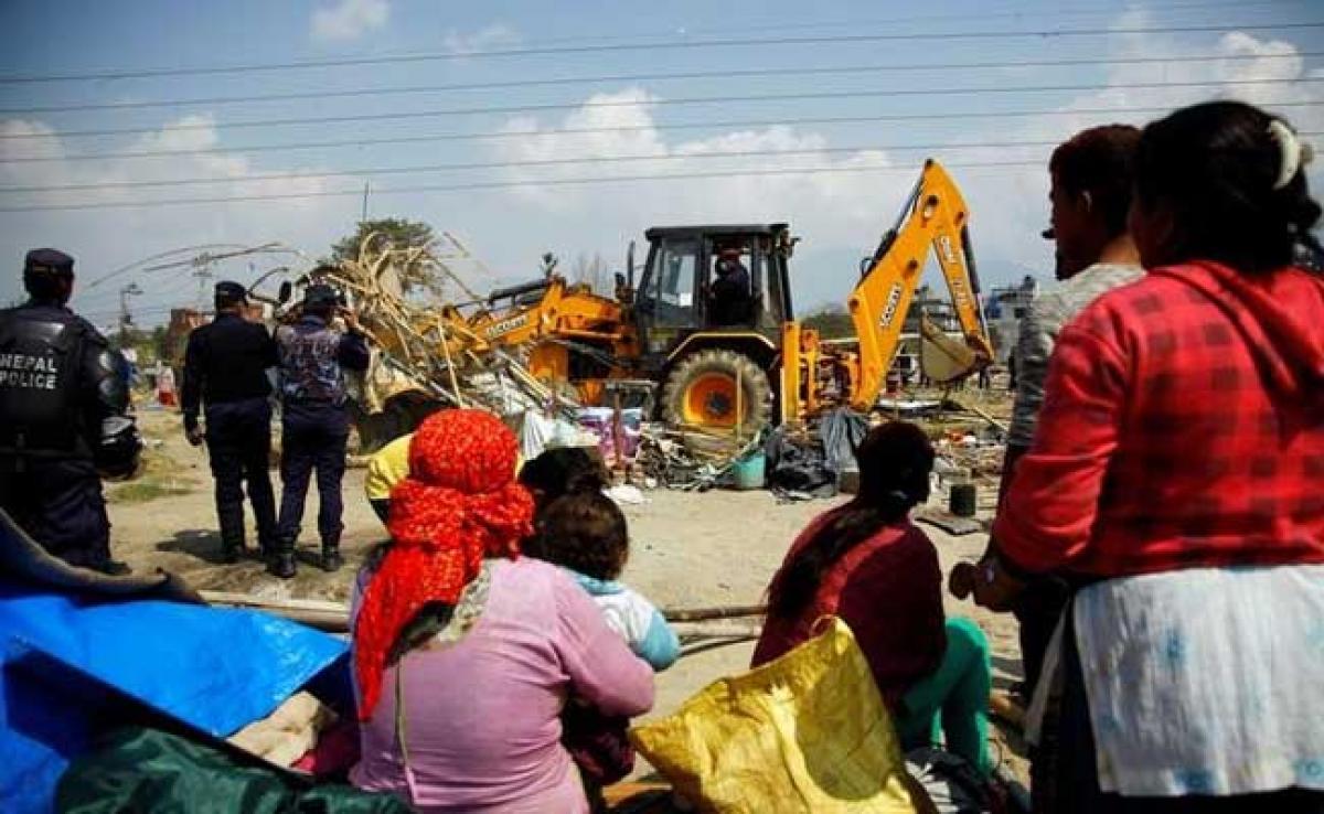Nepal Demolishes Kathmandu Post Quake Relief Camp