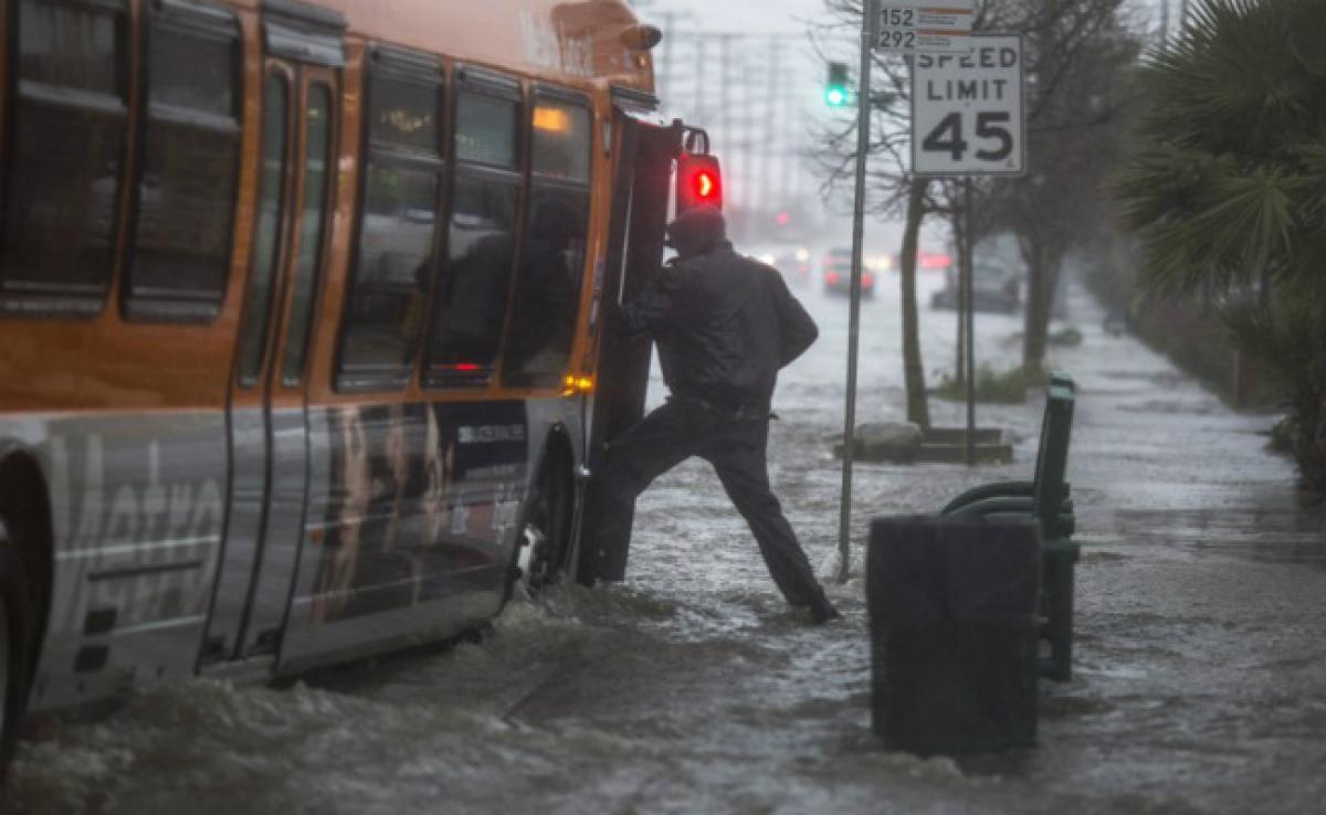 Heavy Rain And Snow Pound California, Raising Mudslide Risk