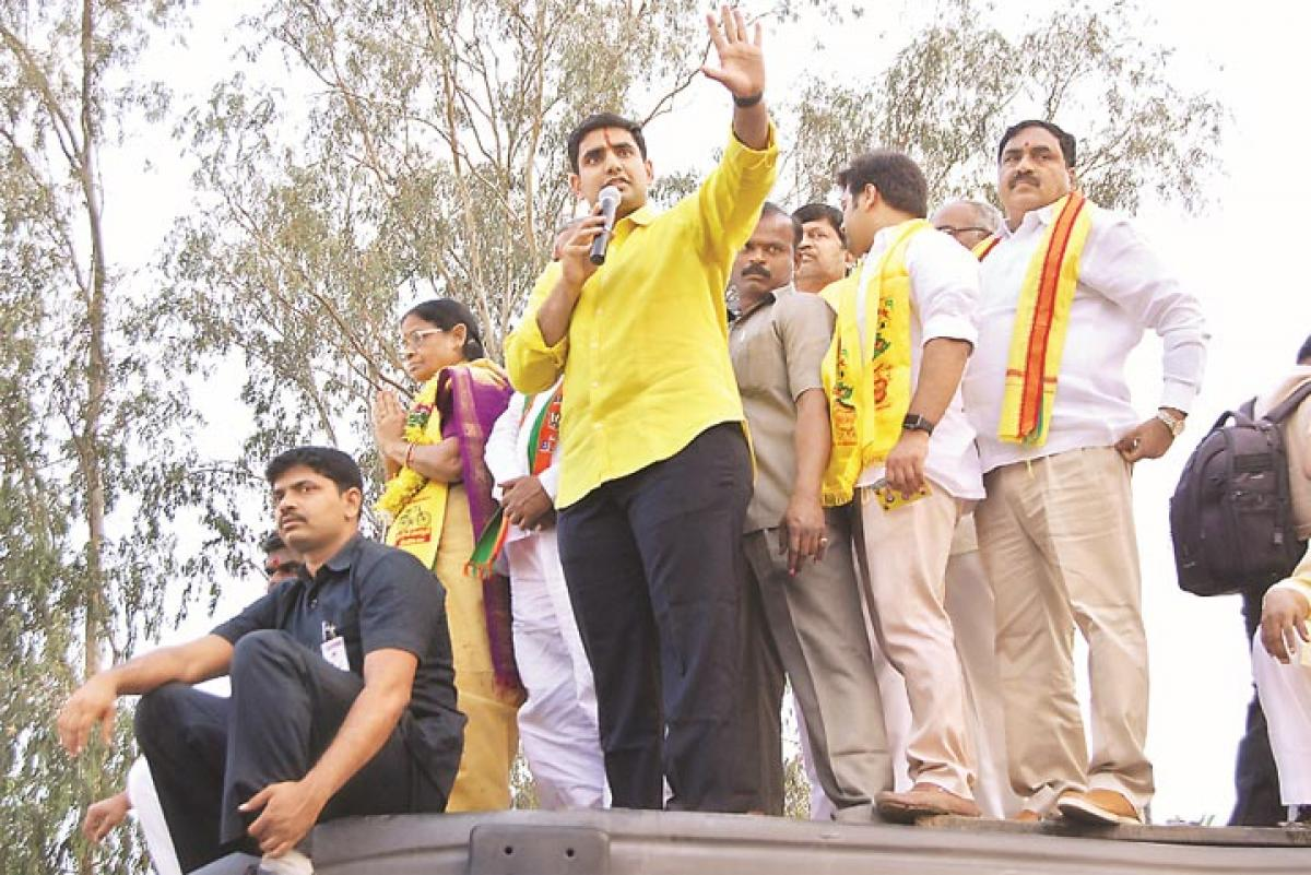 KTR, Lokesh vie with each other in campaign