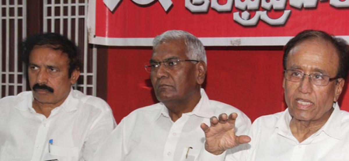 GDP growth declined under NDA regime: Suravaram Sudhakar Reddy
