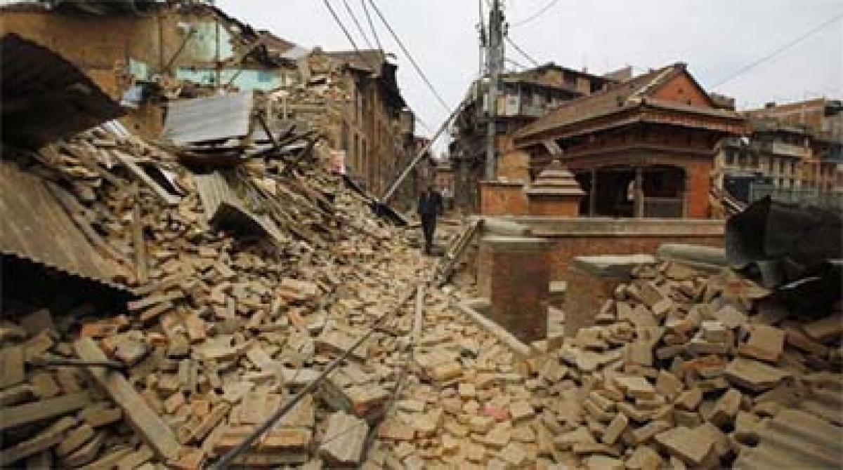 An underground rupture below Kathmandu building pressure, earthquake likely