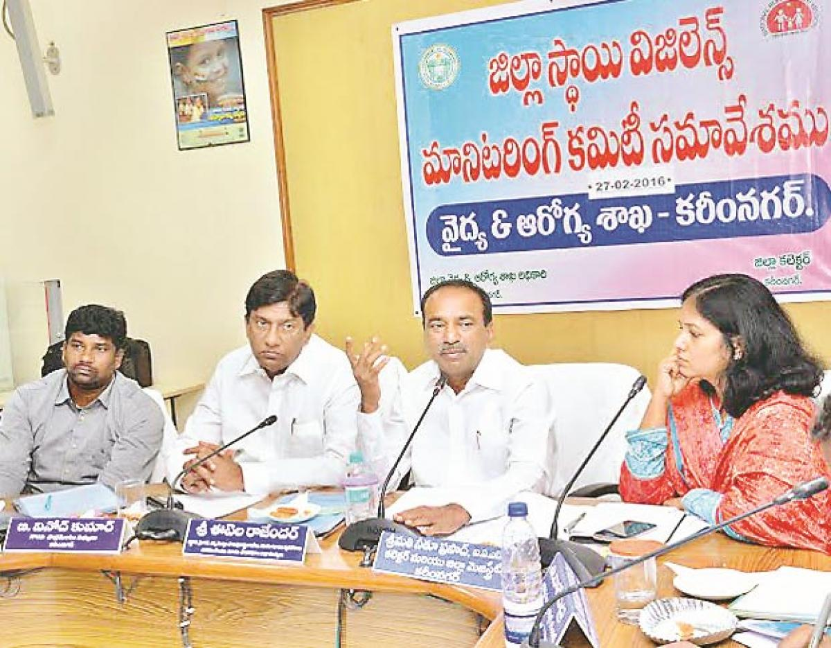 Monitor private hospitals functioning