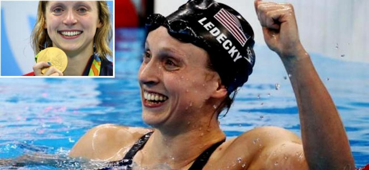 Ledecky smashes 800m record to claim freestyle treble