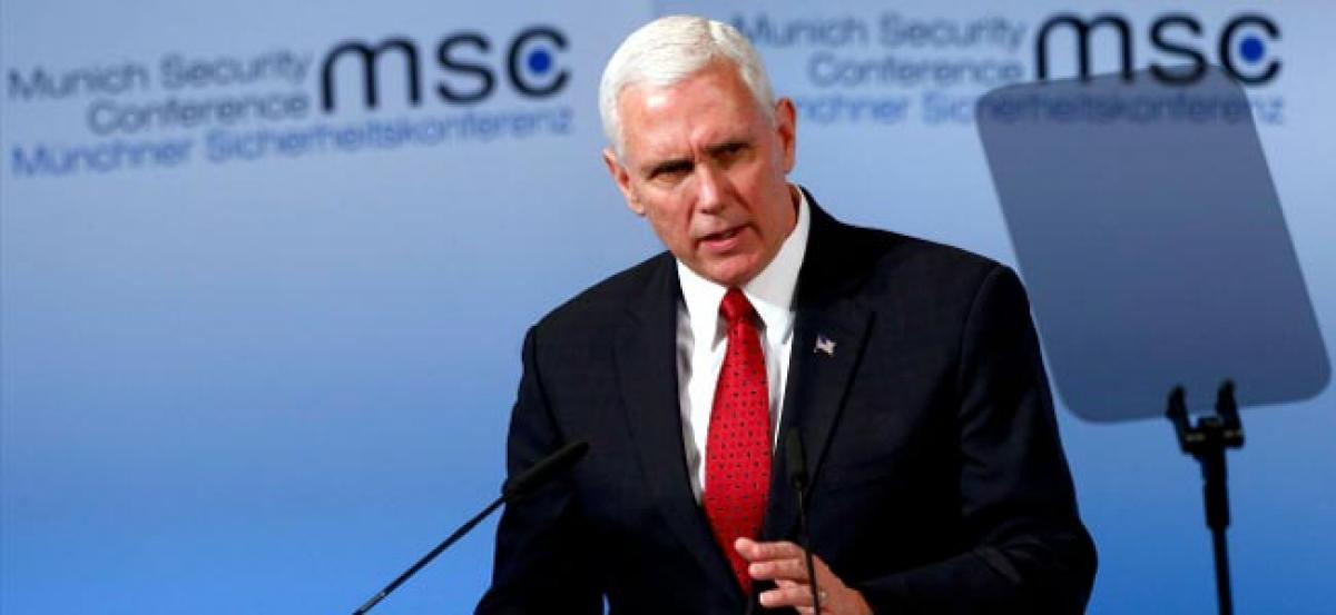 VP Mike Pence says US will stand firm with Europe, NATO; continue to hold Russia accountable