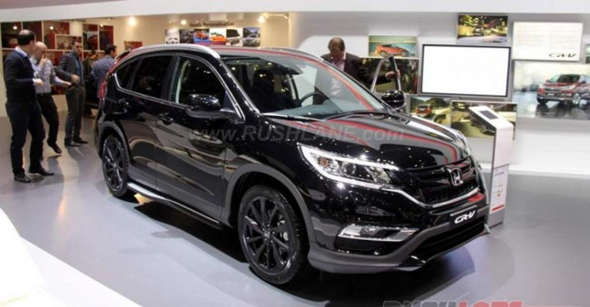 Check out Honda CR-V Black specifications at Geneva Motor Show 2016