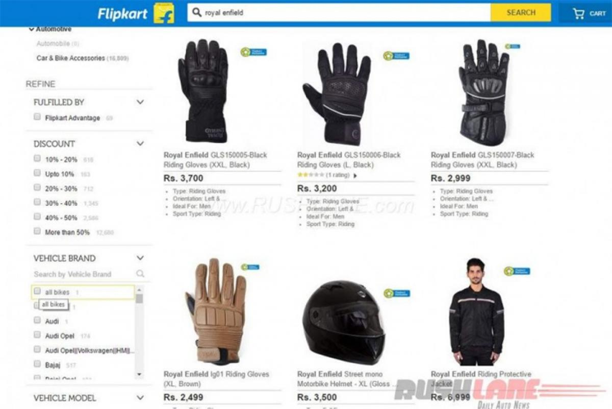 Flipkart selling Royal Enfield gear, accessories: But are they genuine?