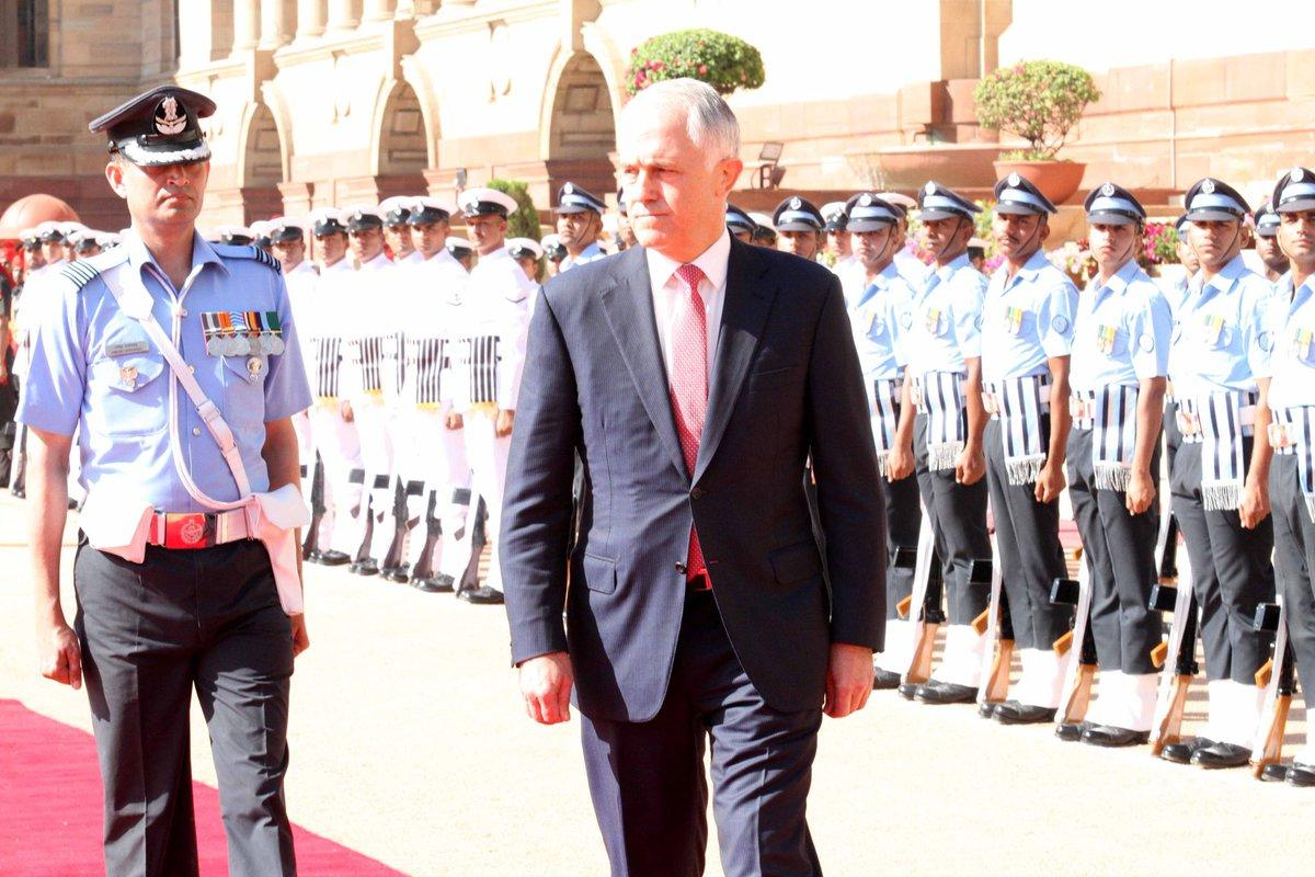 Australian PM accorded ceremonial welcome