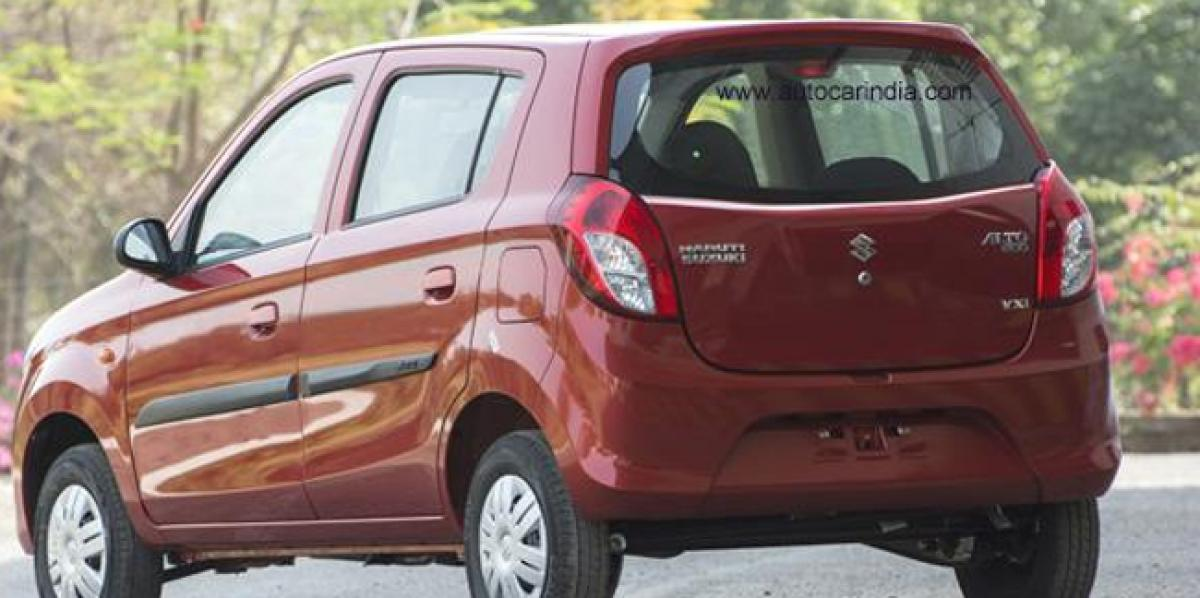 How does Maruti Alto 800 facelift look like?