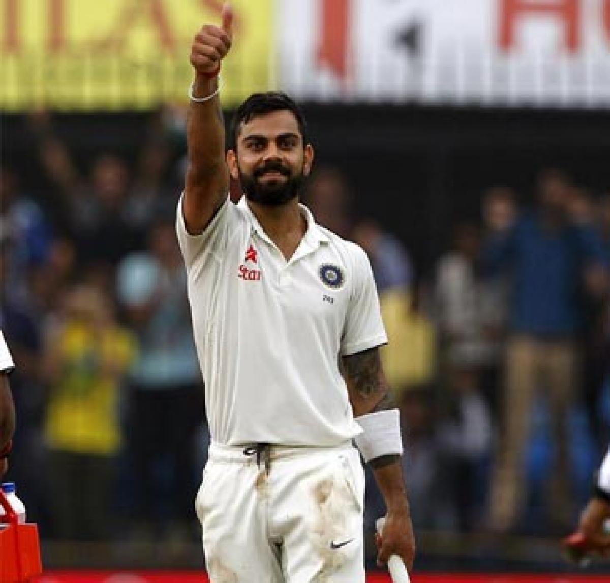 Kohli puts India on top