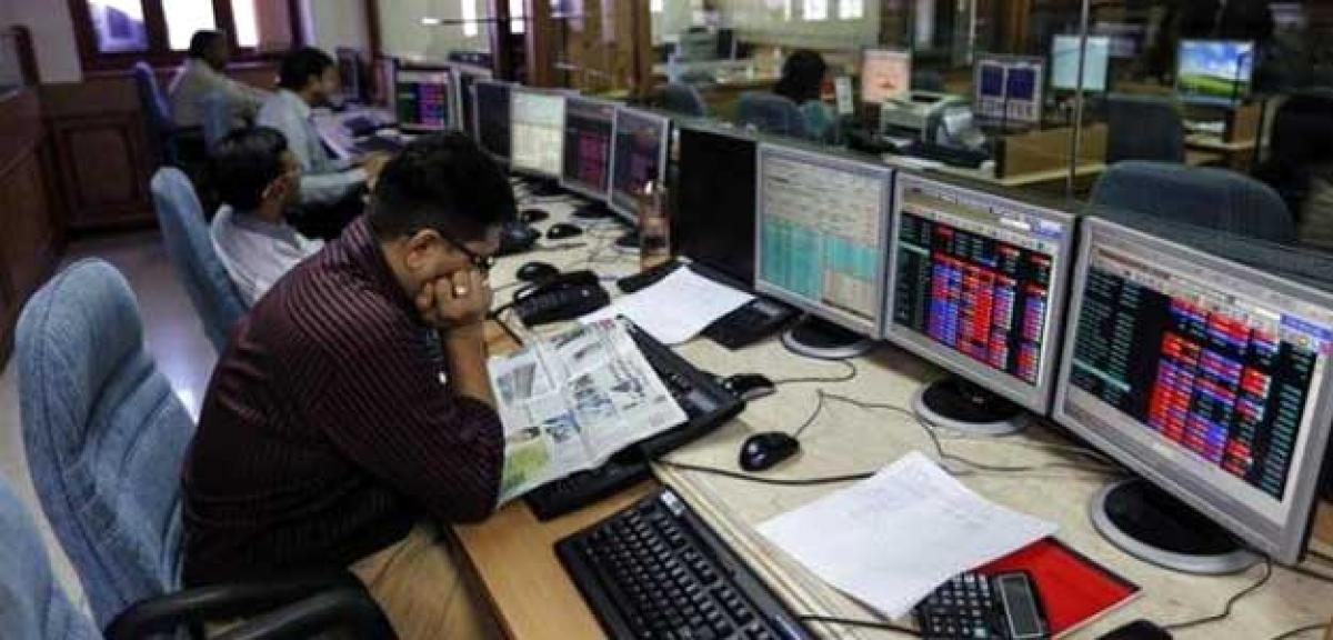 Sensex dips 93 points, Nifty struggles below 8150