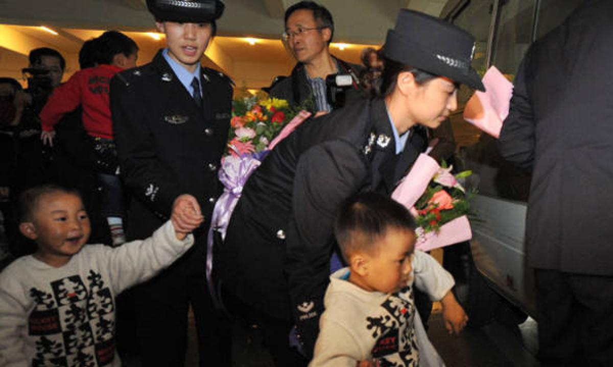 China Police busts a child trafficking racket and rescues 36 children