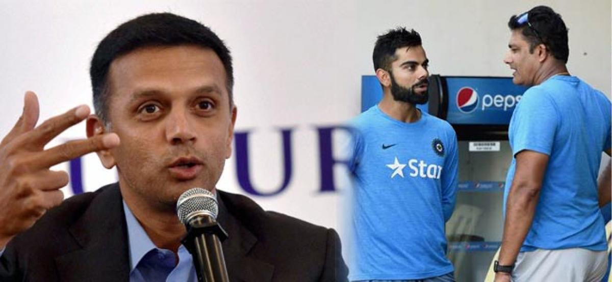 Dravid pats Kumble, Kohli for India's rise