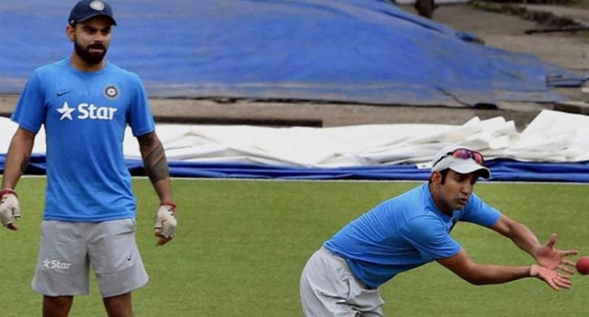 Kohli, Gambhir share light moments during practice session