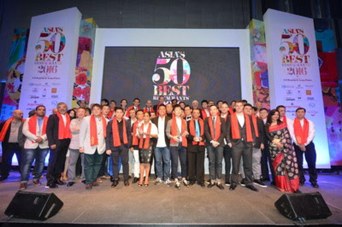 Chefs and restaurateurs celebrate at Asias 50 Best Restaurants 2016 awards ceremony, sponsored by S.Pellegrino & Acqua Panna