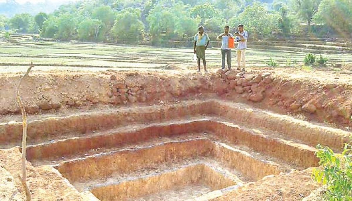 Farmers lead by example in digging water harvesting pits