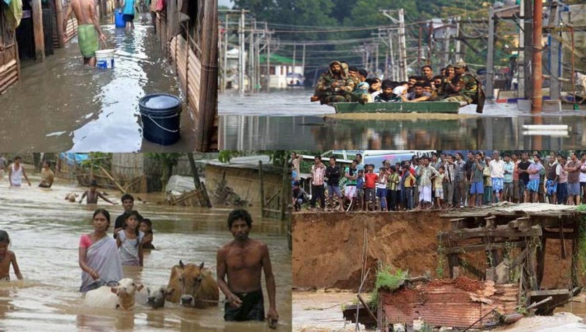 Assam flood claims Three lives. Affect 1.4 million
