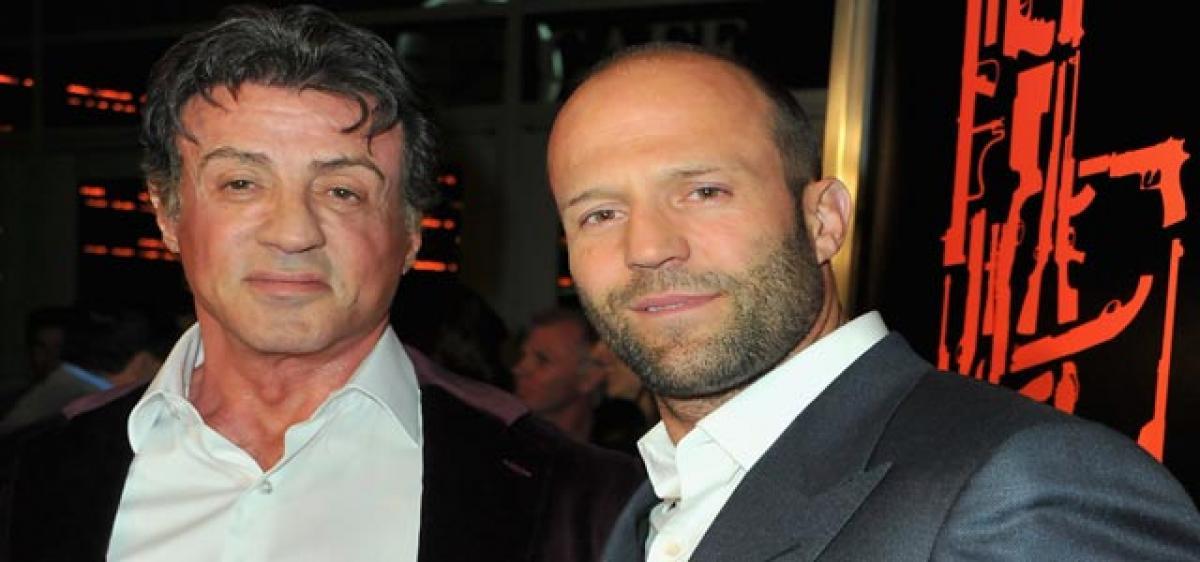 Stallone turns baby guru for Jason Statham