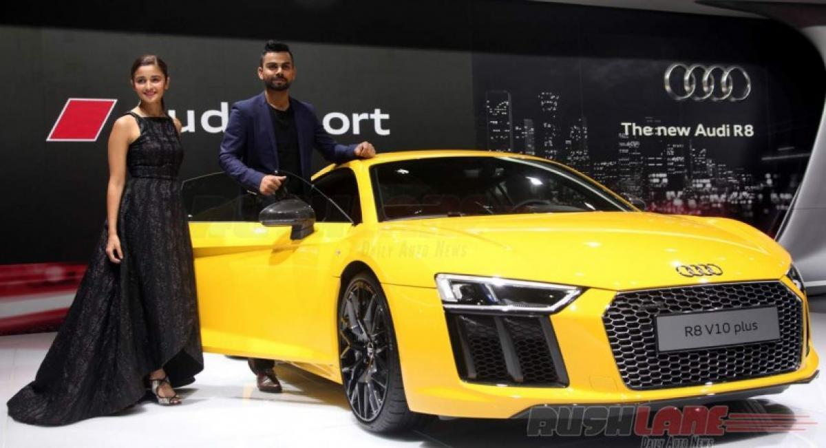 Audi R8 V10 Plus features price in India Auto Expo 2016