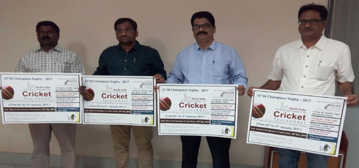 SR Champion Trophy T-20 cricket tournament from Jan 3