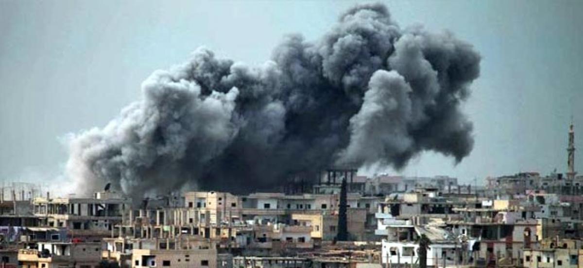 Air strike on mosque near Aleppo in Syria kills 42 - monitor