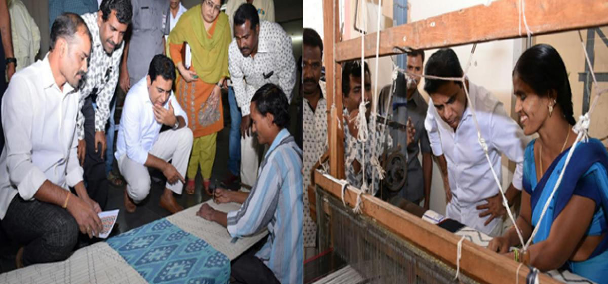 Handloom gifts to foreign delegates: KTR