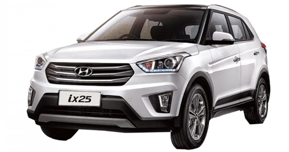 The all-new ix25-based Hyundai Creta unveiled in India