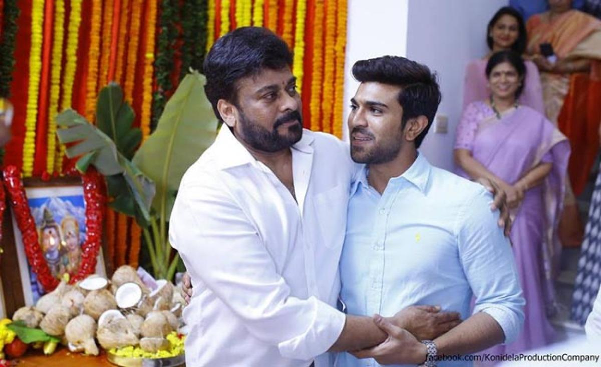Ram Charan takes time out for dad Chiranjeevi